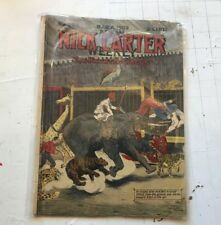 New Nick Carter Weekly no. 636 1909 march 6 Dime Novel Magazine haunted circus!