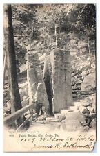 1926 Pulpit Rocks, Glen Onoko, PA Postcard