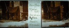 Plaque stéréoscopique photographie ancienne église musée Honfleur 8 juin 1927