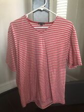 Sons of Intrigue Mens Size XL Pink Striped Short Sleeve Shirt