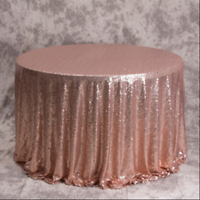 Rose Gold Glitter Sequin Tablecloth Wedding Engagement Reception Party Decor