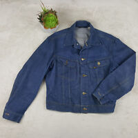 Vintage Lee 80s - 90s Men's Blue Denim Jean Jacket Size Medium Excellent
