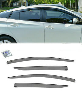 For 16-Up Toyota Prius JDM MUGEN Style Vents Tape On Visors Window Rain Guards