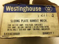 NEW WESTINGHOUSE SLIDING PLATE HANDLE MECH 314C386G01 FOR 60-100 AMP VISI-FLEX