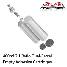 400ml 2:1 Ratio Empty 2-Part Cartridges with included Pistons & Sealing Caps