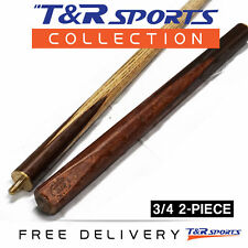 "1x 3/4 2-Piece HTY Ash Snooker Cue Pro 57"" for Pool Billiard Free AUS Post"