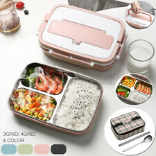 3 Grid/4 Grid Stainless Steel Thermal Lunch Box Bento Food Container With Spoon