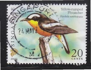 SINGAPORE 2007 YELLOW-RUMPED FLYCATCHER $0.20 2ND RE-PRINT (2007C) 1 STAMP USED
