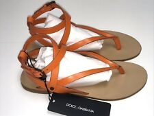 D&G New GIRLS LEATHER STRAP SANDALS SHOES Sz 35 Eur / 3 US RTL $310 LDFZDL O54