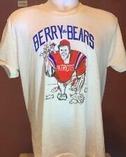 "Vtg New England Patriots Ray ""BERRY THE BEARS"" T Shirt 80's 1986 Mens Medium NFL"