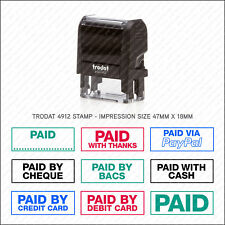 Paid With / Refunded Rubber Stamp Accounts Business Shop Office - Trodat 4912