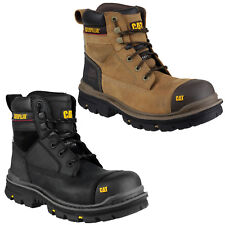 "CAT Caterpillar Gravel 6"" Water Resistant Safety Mens Black Work Boots UK6-13"