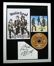MOTORHEAD+LEMMY+SIGNED+FRAMED+ACE OF SPADES=100% AUTHENTIC+EXPRESS GLOBAL SHIP