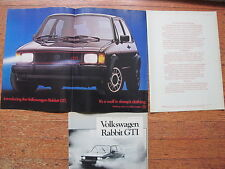 Volkswagen Rabbit GTI Advertising Print Ad and 4 page article Preview Test 1983