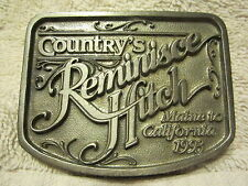 1993 COUNTRY'S REMINISCE HITCH, MAINE to CALIFORNIA BELT BUCKLE
