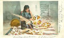 A Moki Basket Weaver 1902