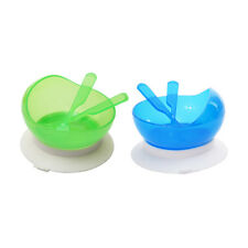 Non Spill Feeding Baby Toddler Suction Bowl 3pcs Tableware Set Bowl Spoon Fork