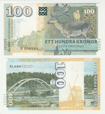 Finland - Aland Islands 100 Kronor 2018 UNC SPECIMEN Test Note Gabris Banknote