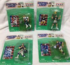 4 STARTING LINEUP FIGURE & CARD 1997 FOOTBALL NFL HARBAUGH FAVRE COLLINS JOHNSON