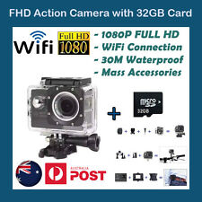 Free 32GB SD Card WiFi GoPro Waterproof Sports Action Video Camera 1080p FULL HD