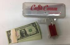 LED THE CASH CANNON LIGHTSHOW MAKE IT RAIN GLOW MONEY GUN WITH FAKE 100 $1 BILLS