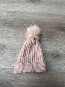 Girls Pink Primark Beanie Hat M/L