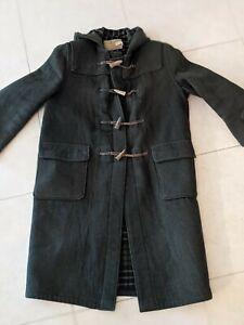 Mens Vintage GLOVERALL Green Original English Duffle Coat Hooded