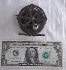 """Vintage Skeleton Style Fly Fishing Reel 1930s All Metal 2 1/2"""""""
