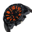 Mens Watches Silicone Rubber Band Stainless Steel Analog Quartz Sport Watch 2015