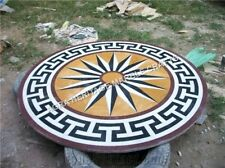 """24"""" Marble Round Coffee Center Table Top Handmade Inlay Furniture Decor E845"""