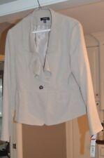 """Rafaella"" Womens Petites 12 Stone Ruffled Peplum Blazer Jacket *NWT*"