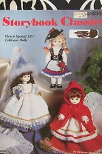 "STORYBOOK CLASSIC Crochet  11.5"" DOLL CLOTHES Patterns FAIRYTALE SNOW WHITE MARY"