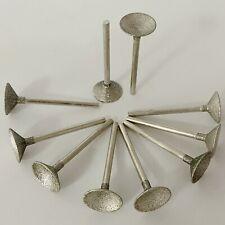 "10Pcs 16mm 5/8"" SPHERICAL CONCAVE Head Diamond Grinding Bits Burr Lapidary Tools"