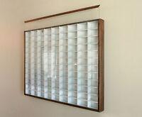 Matchbox - Hot Wheels Wall Display Case W/COVER1/64 scale White w/Walnut Frame