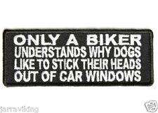 """Motocicleta PARCHE BIKER Trike 4 """"x 1,5"""" sólo un motorista entienda por qué los perros #tub **"""