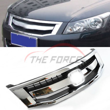 1pcs For 2008-2010 Honda Accord Chrome Front Upper Grille Mesh Cover Grill Trim