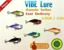 6X 3.5g 1/8oz 35mm Fishing Switchblade Blade VIBE VIB Metal Lures Bream Bass