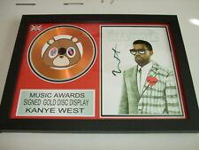 KANYE WEST   SIGNED  GOLD CD  DISC   T