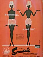 PUBLICITÉ DE PRESSE 1961 LA GAINE SCANDALE SURÉLASTIQUE HELANCA NYLON