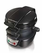 HAMILTON BEACH BREAKFAST SANDWICH MAKER QUICK AND EASY READY IN 5 MIN.