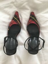 Tartan High Heels Shoes By Alain Manoukian