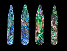 Collar Stay - Genuine Green Abalone - Size 64 x 10 x 2-3 mm ( 4 pcs )