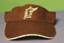 MLB Florida Marlins Miami Baseball Logo Cotton Sun Tennis Visor Hat Cap
