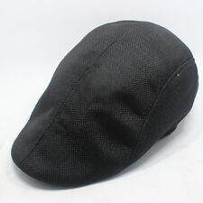 Mens Womens Cabbie Newsboy Flat Cap Gatsby Hat Golf Driving Baker Boy Ivy Caps