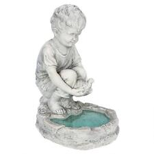 Young French Boy Water Carrier Garden Planter Child Statue