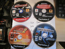 PS2 Racing Video Game Lot 4X: Midnight Club 1 & 2, Need For Speed, ATV 2