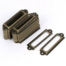 50PCS Antique Bronze Filing cabinet Label Holders Name Tag Card Holder Frames
