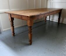 Large 19th Century French Farmhouse Pine Table  Free delivery