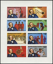 Equatorial Guinea 1979 Sir Rowland Hill MNH Imperf Sheet #C28993