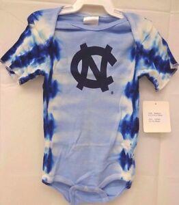 North Carolina Tar Heels Baby Infant 12 Month Tie Dye Bodysuit 530